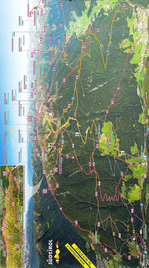 Luttach Mountain Biking Map