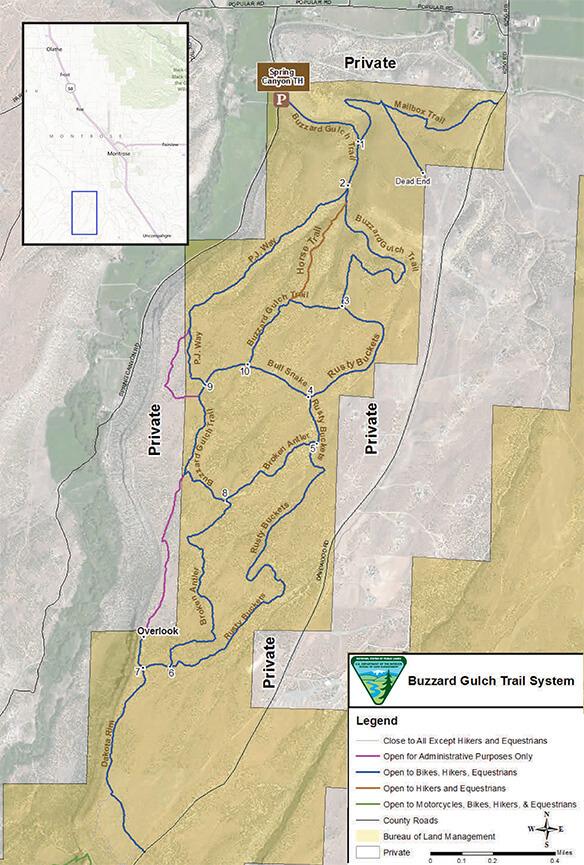 Buzzard Gulch Loop Mountain Biking Map