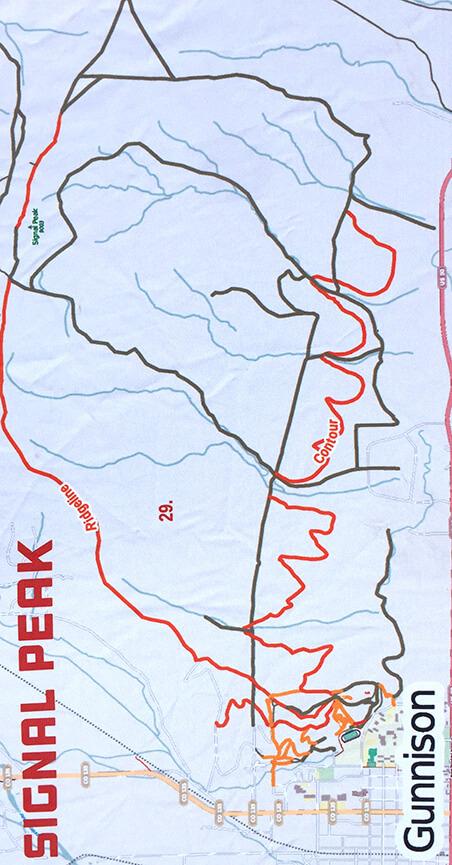 Ridgeline Open Space Mountain Biking Map