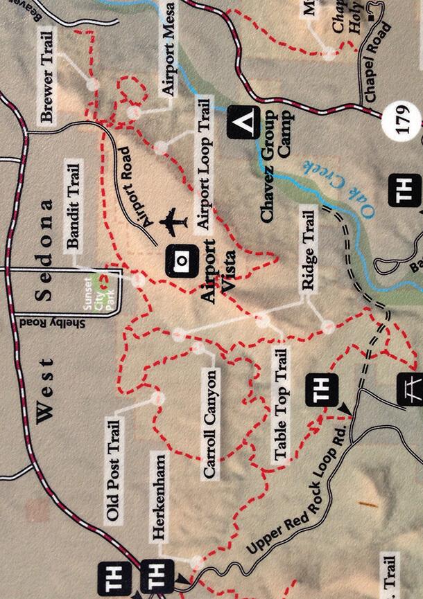 Airport Butte Mountain Biking Map