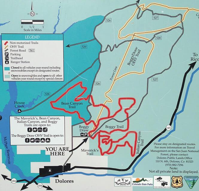 Boggy Draw OHV Trail ATV Trails Map
