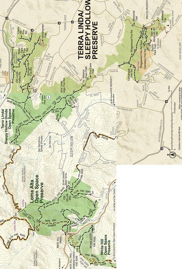 Loma Alta - 680 Trail Mountain Biking Map