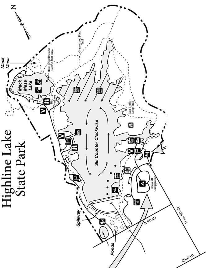 Highline Lake Trail Mountain Biking Map