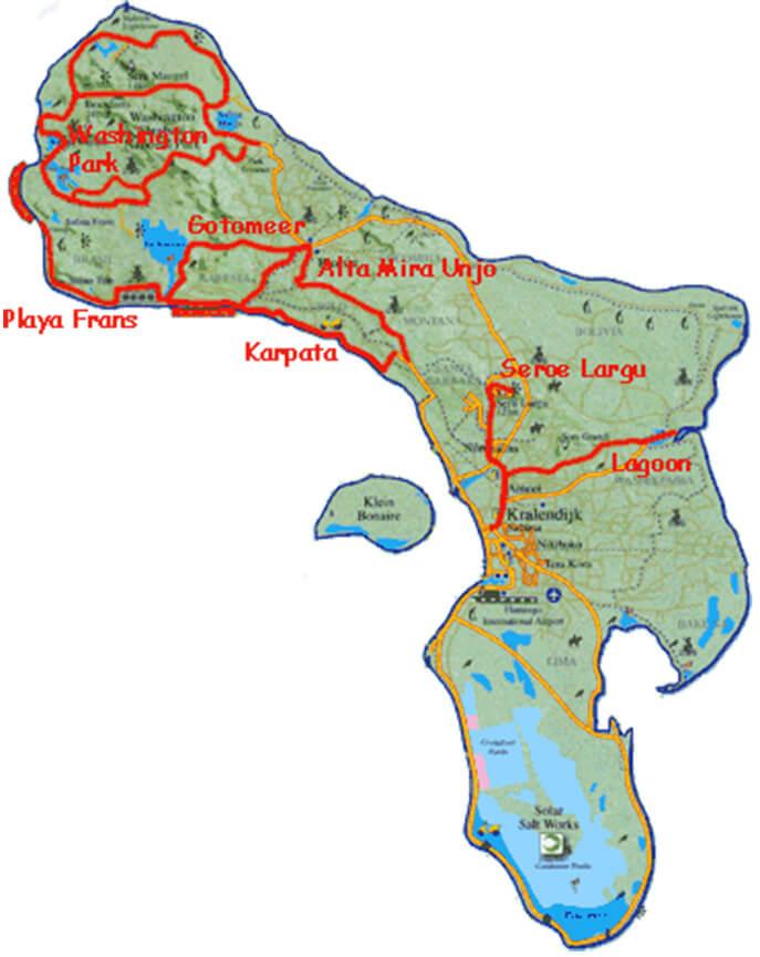 Playa Frans Mountain Biking Map