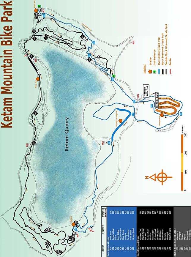 Ketam Mountain Bike Park Mountain Biking Map