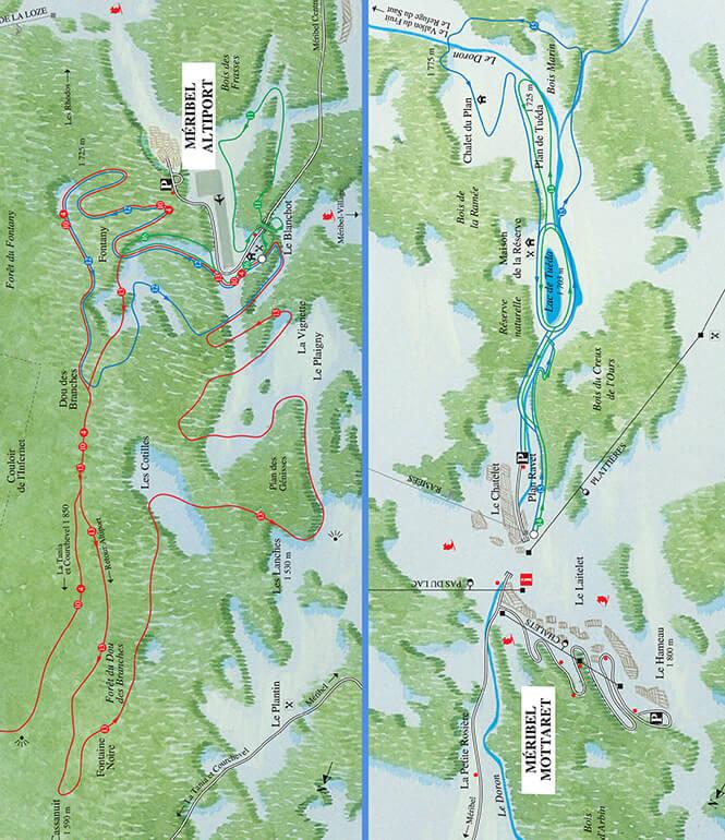 Meribel Cross Country Skiing Map