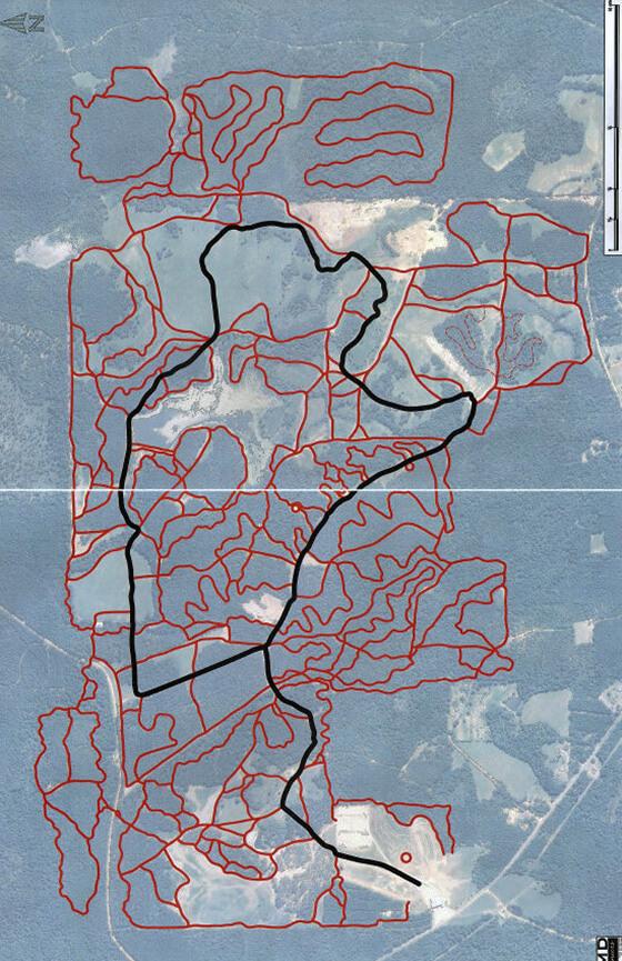 Boggs - Boulders Offroad Park ATV Trails Map