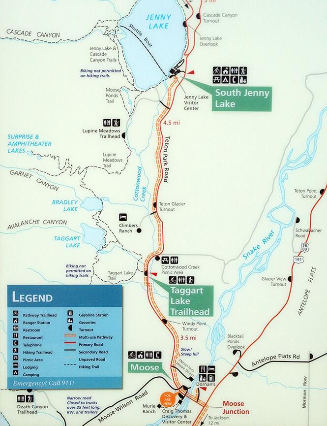 Grand Teton Multipurpose Mountain Biking Map