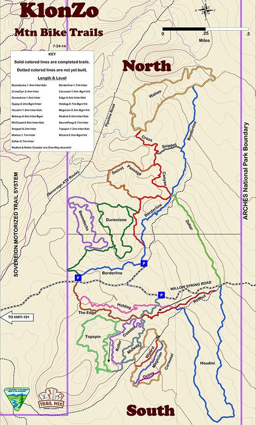 KlonZo Mountain Bike Trails Mountain Biking Map