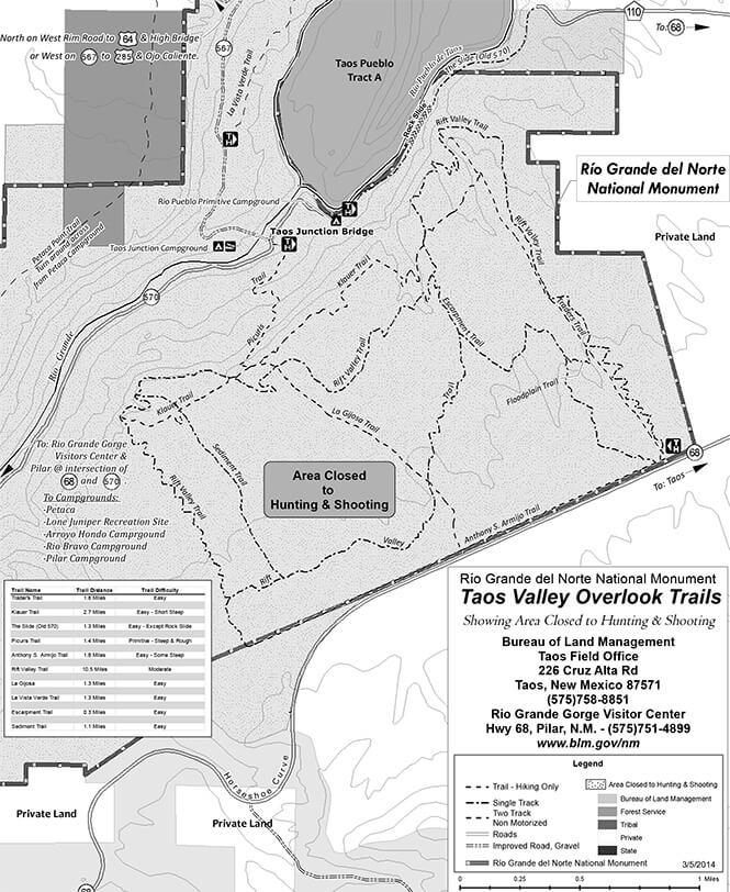 Rift Valley Trail Mountain Biking Map
