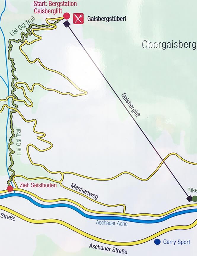 Lisi Osl Trail Mountain Biking Map