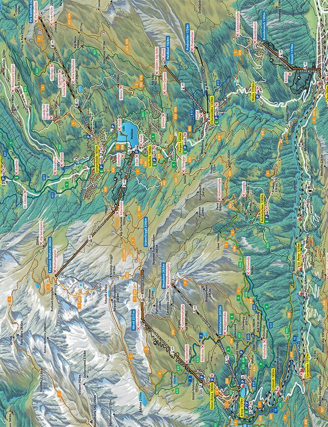 Lenzerheide Mountain Biking Map