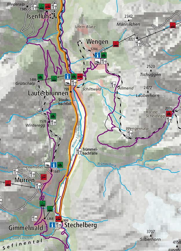 Mürren Mountain Biking Map