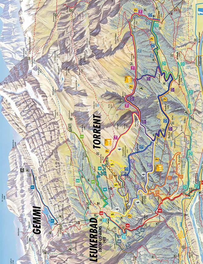 Leukerbad Mountain Biking Map