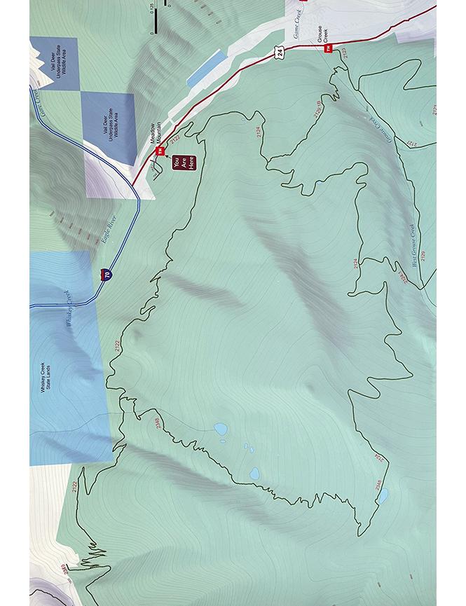 Whiskey Creek Trail Mountain Biking Map