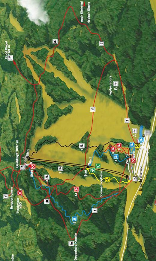 Bikepark Geisskopf Mountain Biking Map