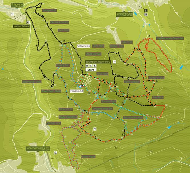 Rabenberg Trail Center Mountain Biking Map