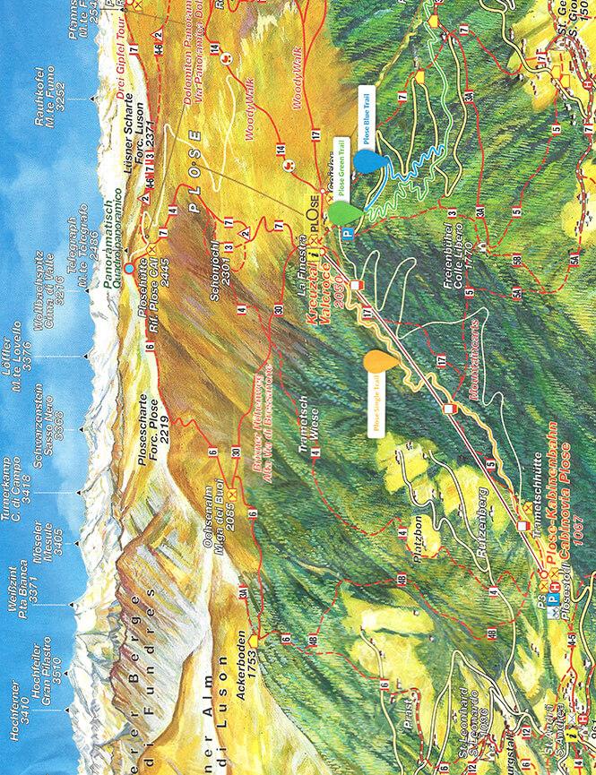 Plose Single Trail Flow Mountain Biking Map
