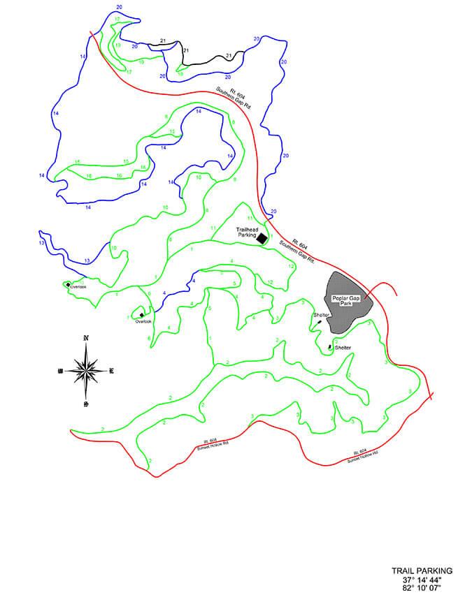 Coal Canyon ATV Trails Map