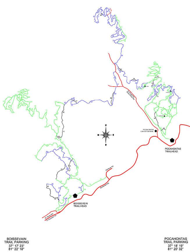 Pocahontas ATV Trails Map