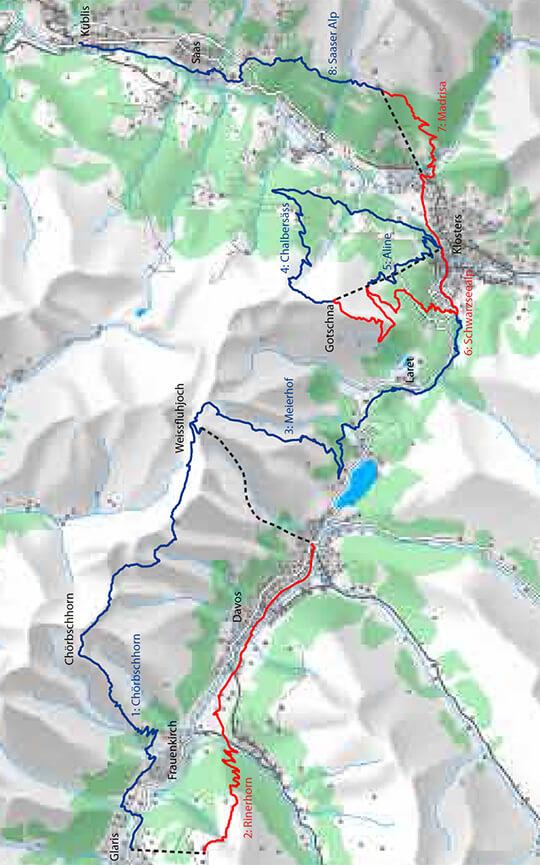 Bahnen Tour Mountain Biking Map