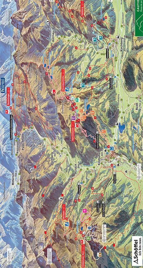 Kitzbuhel Mountain Biking Map