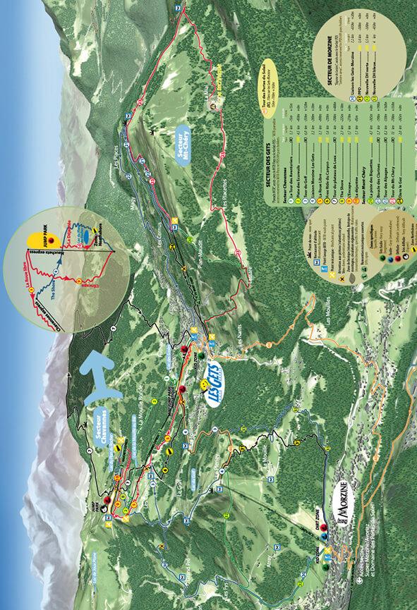 Les Gets Centre VTT Mountain Biking Map