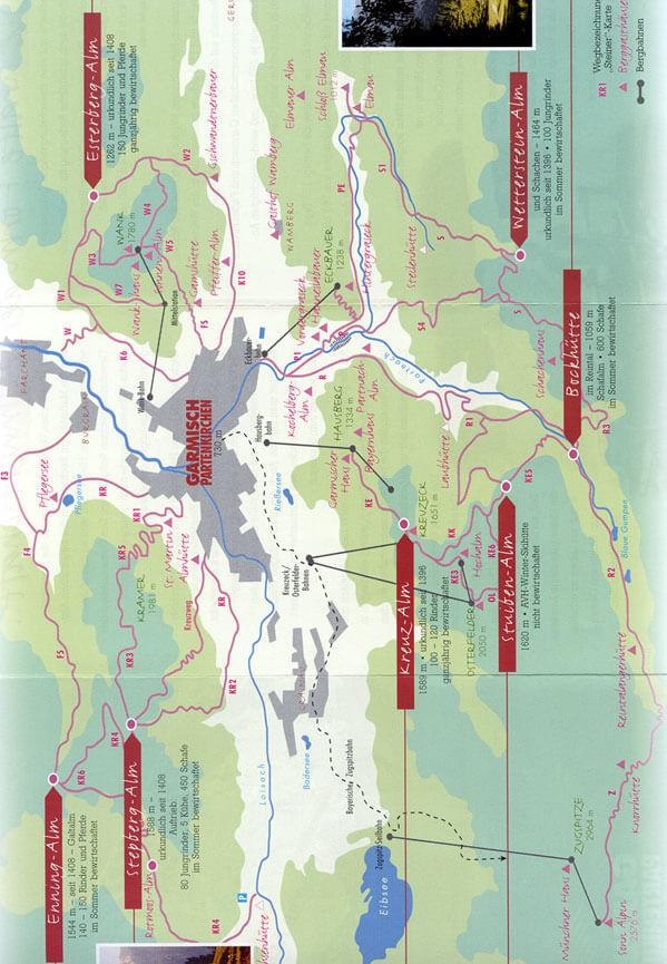 Garmisch - Partenkirchen Mountain Biking Map