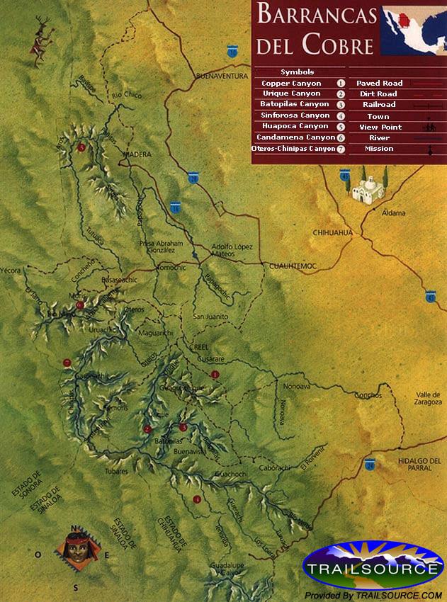 Copper Canyon Trail Mountain Biking Map