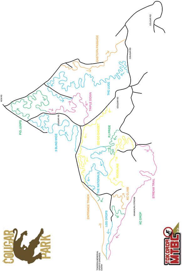 Cougar MTB Park Mountain Biking Map