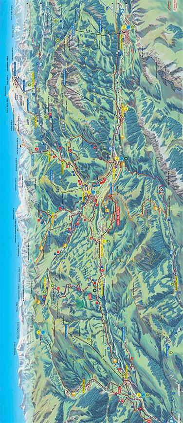 Gstaad Mountain Biking Map