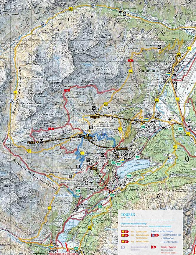 St. Moritz Engadin Bike Marathon Trail Mountain Biking Map