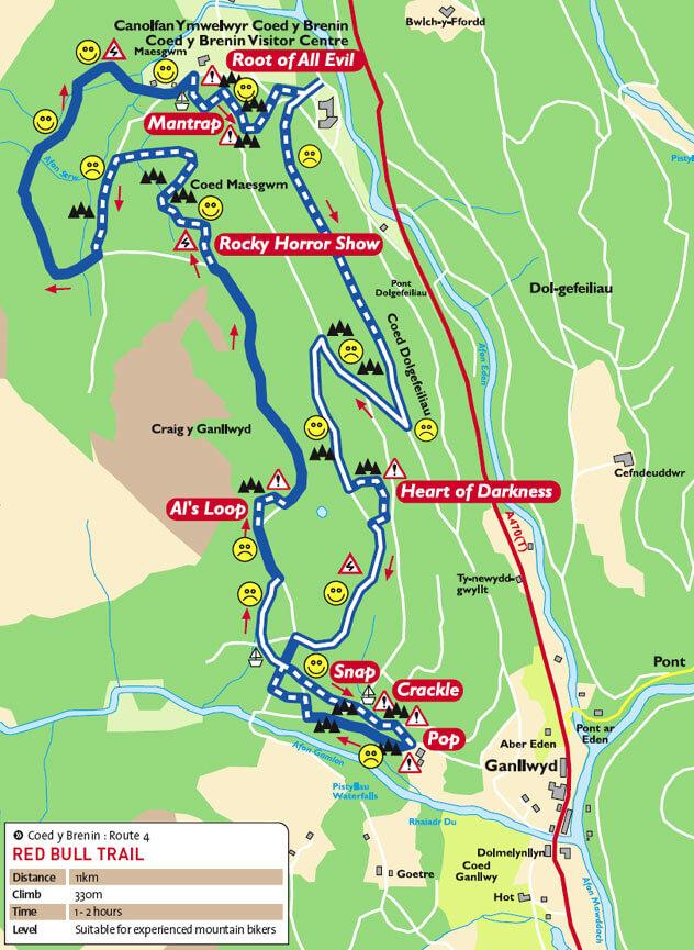 Coed y Brenin Forest Centre Mountain Biking Map