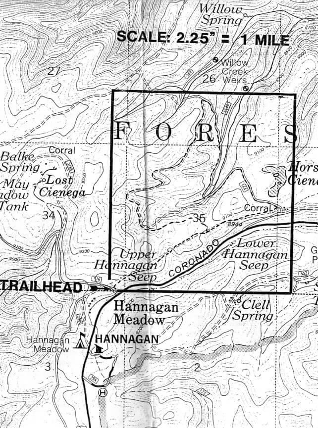 Hannagan Meadow Loop Mountain Biking Map