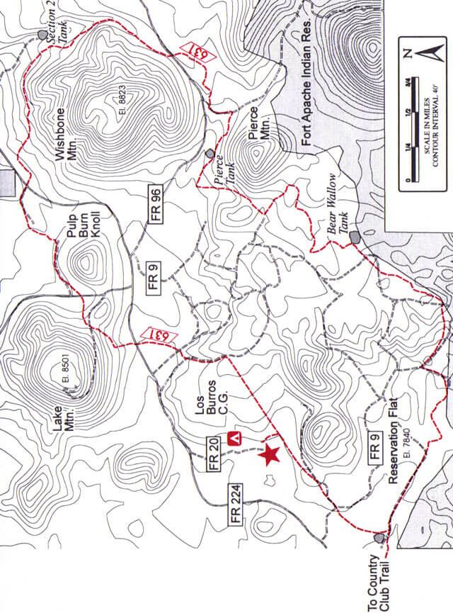 Los Burros Loop Mountain Biking Map