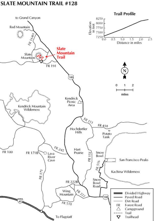 Slate Mountain Trail Mountain Biking Map
