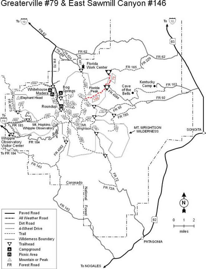 Greaterville Trails Mountain Biking Map