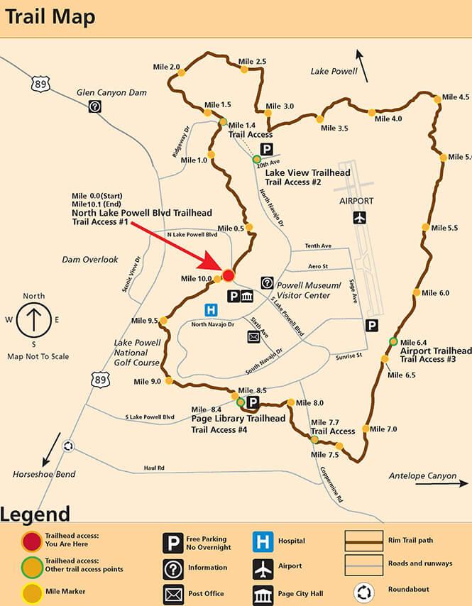 Page Rim Trail Mountain Biking Map
