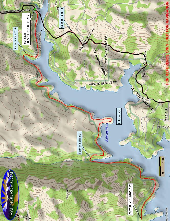 Salmon Falls Trail Mountain Biking Map