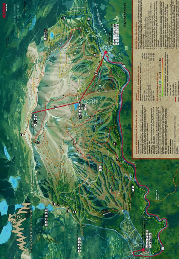 Mammoth Bike Path Mountain Biking Map