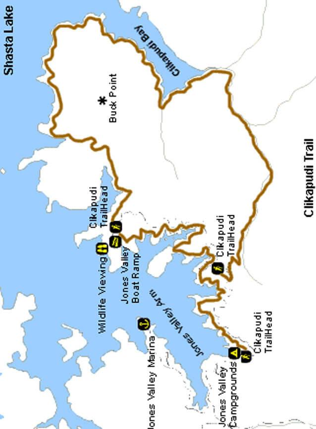 Clikapudi Trail Mountain Biking Map