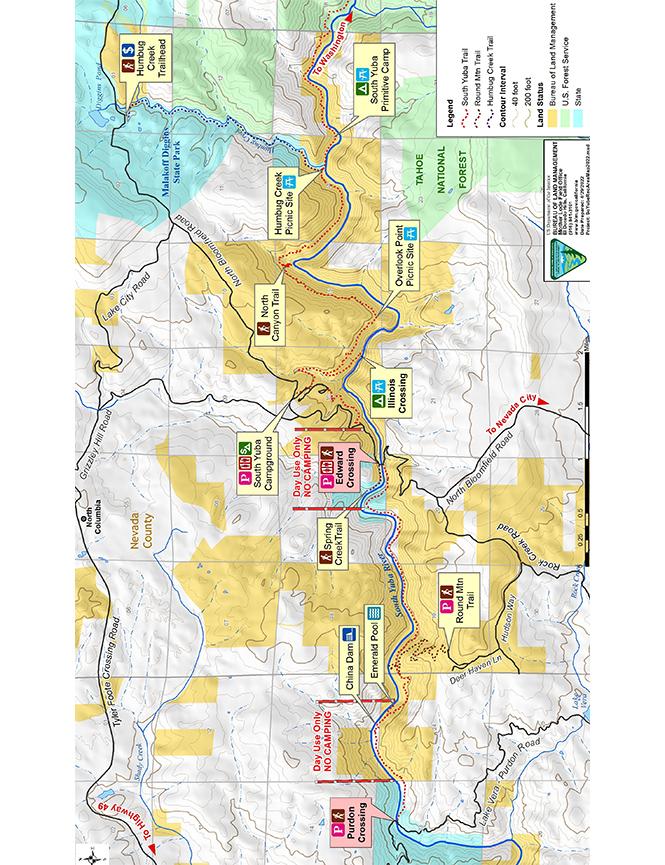 South Yuba Trail Mountain Biking Map