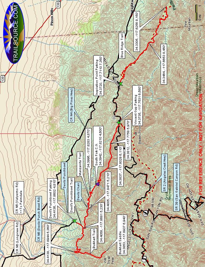 Palmdale Mountain Biking Map