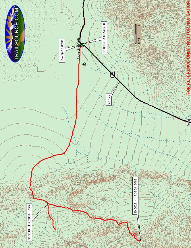Cottonwood Canyon Trail Mountain Biking Map