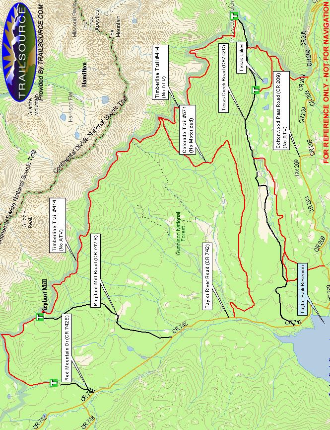 Timberline Trail Mountain Biking Map