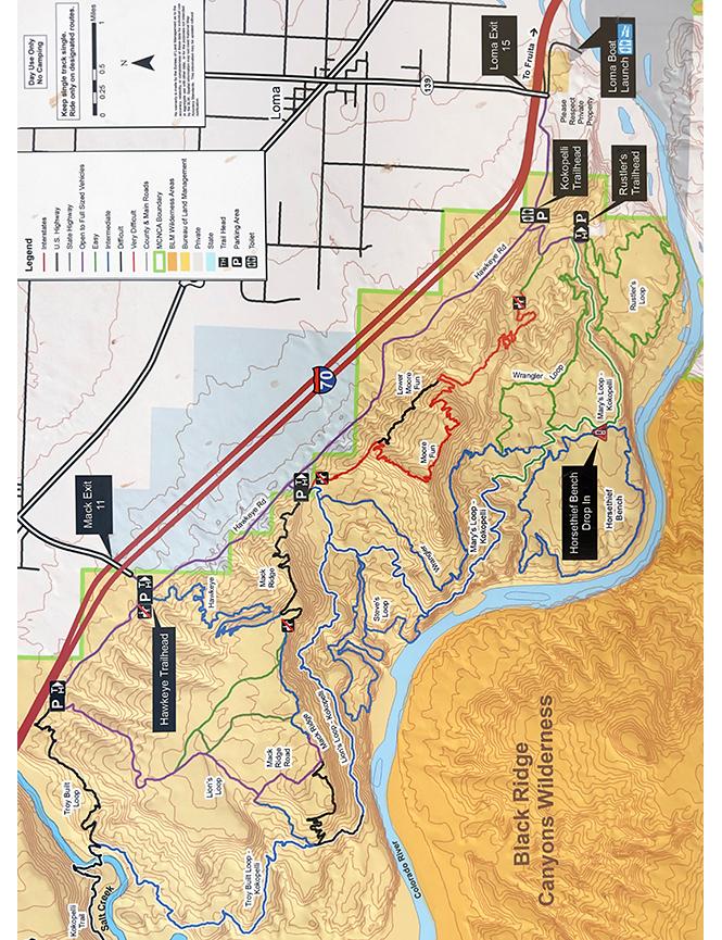 Kokopelli Trail System Mountain Biking Map