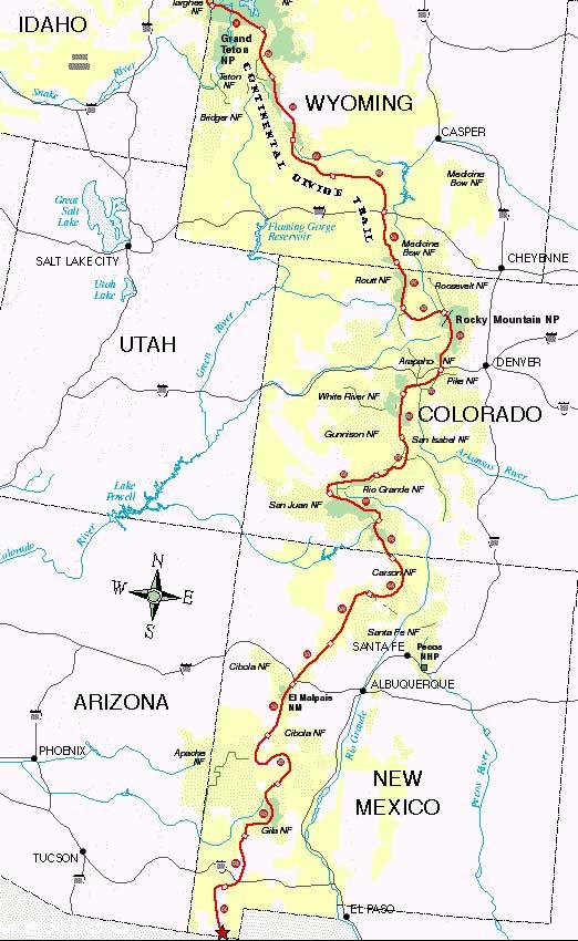 Great Divide Mountain Bike Route Mountain Biking Map