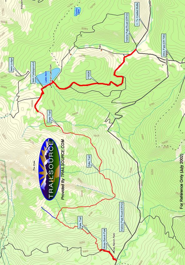 Dyke Trail Mountain Biking Map