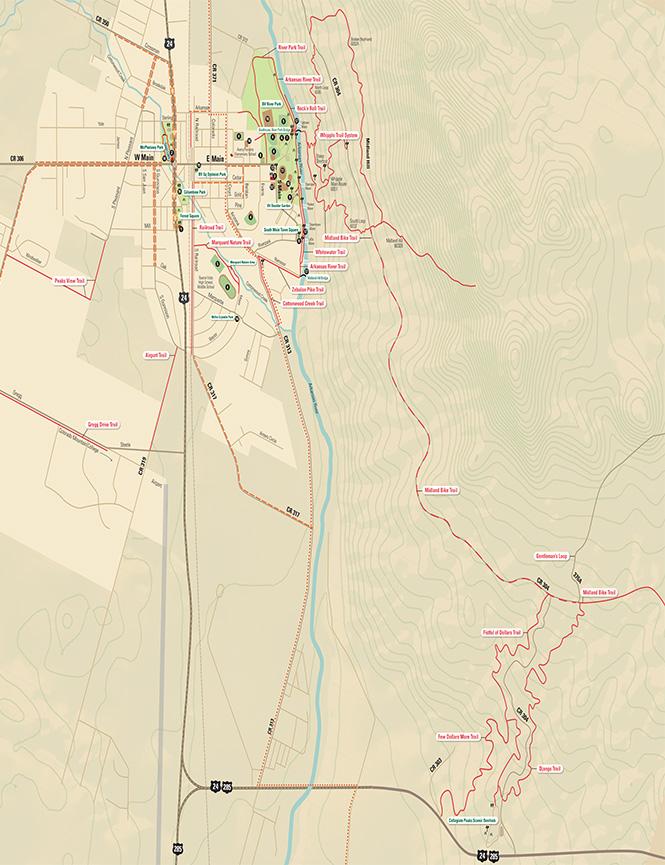 Midland Bike Trail Mountain Biking Map