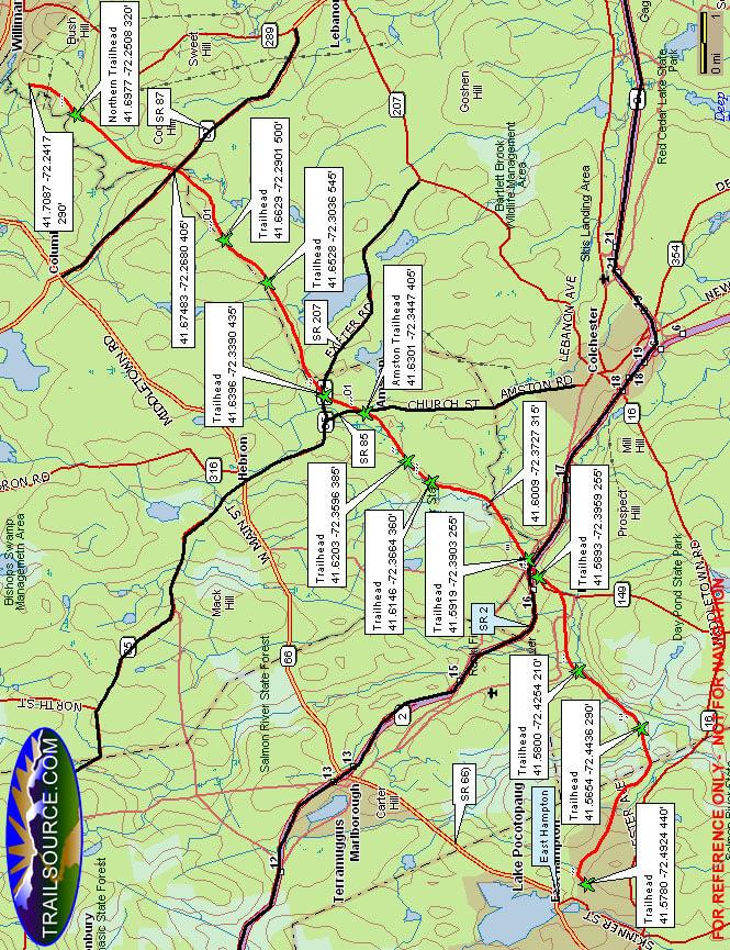Air Line Trail Mountain Biking Map